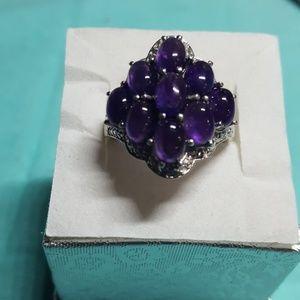 Purple Opal Ring